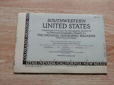 national geographic map 1948 Southwestern US