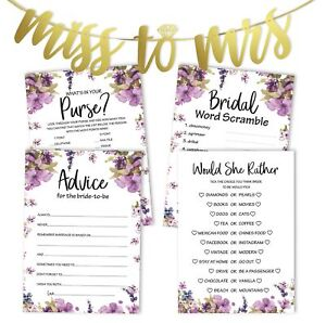 Inkdotpot Bridal Shower Games Set Of 4(50 Sheets Each) w / Miss-pZU