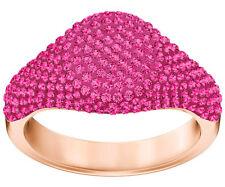 Swarovski 5413612 Stone Signet Ring, Rose Gold Plating, Pink, Size 58 RRP $219