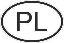Adesivo adesivi sticker codice auto moto ritagliato nazioni ovale POLONIA