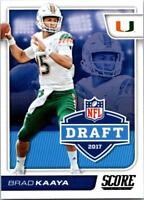 BRAD KAAYA 2017 Score NFL Draft #15 ($0.75 MAX SHIP)