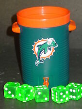 NFL Miami Dolphins Dice Cup & Dice, NEW