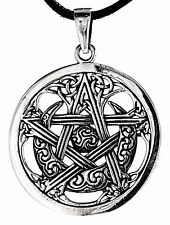 No 228: Pentagram 925 Silver Pendant Guardian Moon Sun Celtic Wicca Amulet