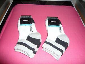 kids donnay 2 packs trainer socks 4 pairs size 12-3 white grey black
