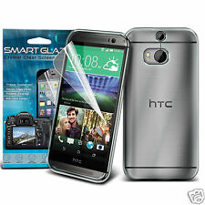 Tough Thin Clear Gel Case Cover & Smart Glaze LCD Film for HTC One M8s