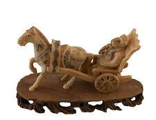 Hufeisen Affe Trolley Figürchen Statuette Selten Geschnitzt 3579