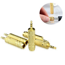 """3.5mm 1/8"""" Male to 6.5mm 1/4"""" Female XI Stereo Audio Adapter CA Jack Connector"""