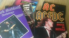 Libro +spartiti AC/DC BLACK SABBATH +VARI