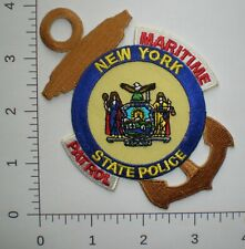 NY New York Highway Patrol State Police Marine Water Maritime trooper patch