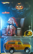 """Hot Wheels CUSTOM '85 FORD BRONCO """"HALLOWEEN"""" Real Riders Limited 1/25 Made!"""