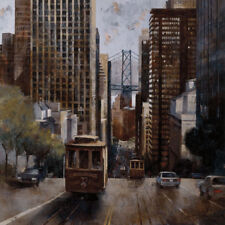 Cable Cars in San Francisco by Marti Bofarull City Print 39.25x39.25