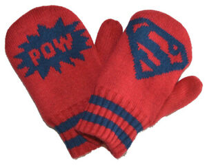 Baby Gap NWT Superman Junkfood Red Fleece Lined Mittens XS/S $17