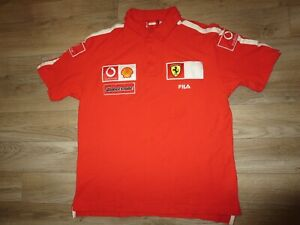 Ferrari Formula 1 Racing Fila Race Jersey Shirt XL mens