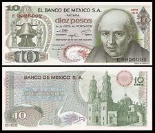 Messico 10 PESOS 1975 Sign.5 Red seal P 63h UNC OFFER !