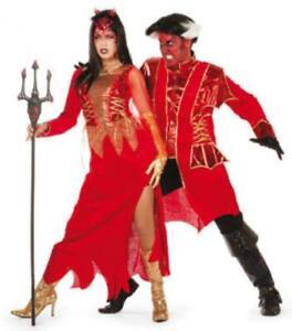 Teufel Teufelskleid Kostüm Teufelin Kleid Vampirkleid Hexe Hexen Teufelkostüm
