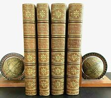 Chronicles of England, 4 Vols Set, 1724-1827. Leather Bound by Riviere.