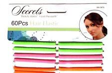 60 un. Cuerda Elástica de Pelo para Mujer Moda Lazos Para El Cabello Cola de Caballo Muñequera Mezclado Color
