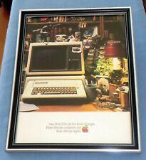 Apple IIe Computer - Framed Original 1983 Promo Advertisement Vintage Retro Tech