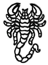 Ecusson patche scorpion blanc iron-on patch thermocollant patch badge