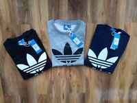 adidas originals sweatshirt / jumper   4 sizes s.m.l.xl