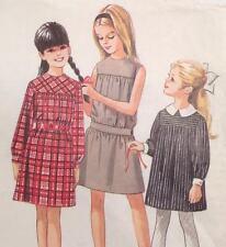 Rare UC Vtg 1960s Simplicity 4703 Sew Pattern Girls Dress 4 Styles Sz 7 Mom 7876