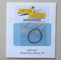 BLACK DETAIL WIRE 2 FT 1:24 1:25 DETAIL MASTER CAR MODEL ACCESSORY 1101