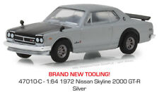 Greenlight Nissan Skyline 2000 GTR 1972 Silver 47010 C 1/64