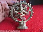 Vintage Solid Brass Hindu Tribal Dancing God Shiva Natraj Statue Figurine  02
