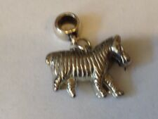 Zebra TG315 Charm with 5mm Hole fit Charm Bracelet