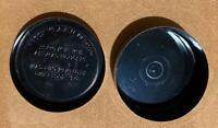 """Vintage / Antique Kodak  Black EMBOSSED Metal 16mm Return Film Processing 2"""" Can"""