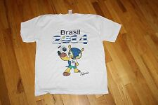 """CLICK CAMISETAS T-SHIRT WHITE SIZE L """" BRASIL 2014 FABRIZIO"""" NEW WITHOUT TAGS"""