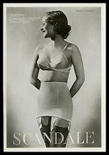 French ADVERTISING SCANDALE Lingerie Bra Girdle Marant Photo 1930s PARIS Latest