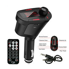 R/ Car Wireless FM Radio Stereo Music MP3 Modulator Transmitter USB SD Slot Kits