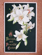 R&L Postcard: Blessed Easter, Beautiful Embossed Art Card, Lilies Lily Wildt & K