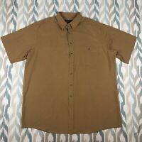 George Forman Men's Hawaiian Brown Shirt 100% Silk Size 2XL
