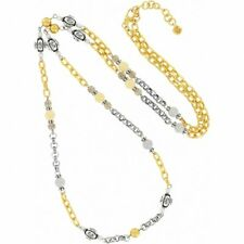 NWT Brighton SUNSHOWER Gold Silver Beaded Long Necklace MSRP $92