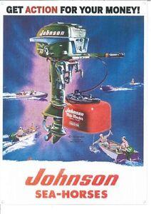 Johnson Sea-Horses Motor (046) Metal Sign