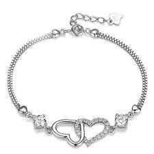 925 SILBER Damen Armband Armkette Stellux AUSTRIAN CRYSTAL Zirkonia Steine AAA+