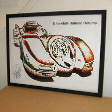 Batmobile Batman Returns Tim Burton Hot Wheels Car Poster Print Wall Art 18x24