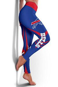 Buffalo Bills Women's High Waisted Leggings Anti-Cellulite Butt Lift Yoga Pants