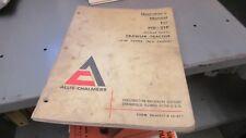 Allis-Chalmers HD21P Crawler Operators Manual 0634417-0 May 1967