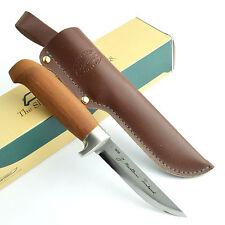 Marttiini Lynx 161 Birch Handle Stainless Fixed Blade Utility Knife 161013NI