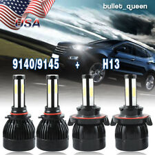 H13 9008 LED Headlight + 9145/9140 Fog Lights Kit for Ford F-250 F-350 2005-2017