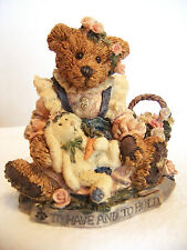 "Boyds Bearstone - ""Bailey & Wixie - To Have & To Hold"" - w/box - #2017"