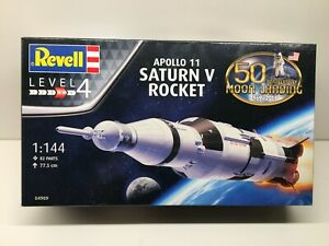 REVELL APOLLO 11 SATURN V ROCKET 1/144 PLASTIC MODEL KIT NEW SEALED NASA SPACE