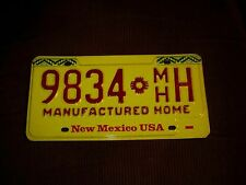 NEW MEXICO MANUFACTURED HOME LICENSE PLATE