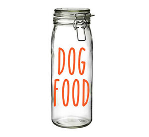 Dog Food - Vinyl Sticker Decal Labels for Jars, containers, cellar, pet food.