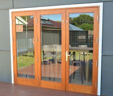 CEDAR TIMBER BIFOLD DOOR 3 PANEL, PRE-HUNG & STAINED, 1 RIGHT, 2 LEFT, IN STOCK