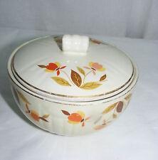 Vintage Hall Superior China Autumn Leaf Jewel T Medallion Drip Bowl with Lid