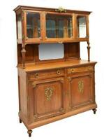 BEAUTIFUL ANTIQUE FRENCH OAK DISPLAY SIDEBOARD DISPLAY CABINET, early 1900s!!!